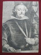 1640 MONCADA FRANCISCO MARCHESE DE AYTONA INC. VAN DYCK RARISSIMA - Litografia