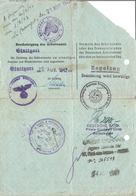 Feuille De Permission Exceptionnelle - Service Du Travail Obligatoire S.T.O. 1943 Stuttgart - Documents