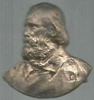 Garibaldi Giuseppe, Generale. Unità D'Italia. Placchetta Ag. Gr. 3, Cm. 3 X 3. - Italia
