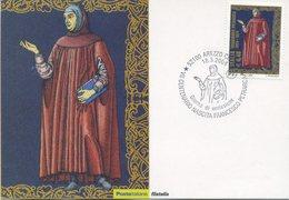 ITALIA - FDC MAXIMUM CARD 2004 - FRANCESCO PETRARCA - LETTERATURA - ANNULLO SPECIALE AREZZO - Maximumkarten (MC)