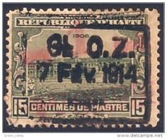 478 Haiti 15 Vert Green 1914 MH * Neuf CH (HAI-10) - Haiti