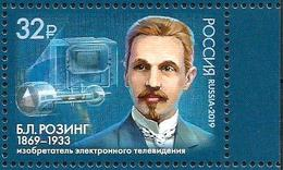 RUSSIA 2019  MNH VF ** Mi 2688 ROZING Rosing TELEVISION INVENTOR ENGINEER PHYSICS PHYSIQUE Telecom SCIENCE 2471 - 1992-.... Federazione