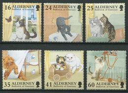 244 ALDERNEY 1996 - Yvert 94/99 - Chats Cats Neuf ** (MNH) Sans Trace De Charniere - Alderney