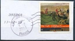 France - Oeuvre D'Edgar Degas YT 4652 Obl. Ondulations Et Cachet Rond Sur Fragment - France