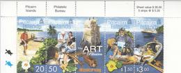 2001 Pitcairn Island Art Wood Carving Complete Strip Of 5 MNH - Pitcairn Islands