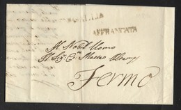 DA SENIGALLIA A FERMO - 23.8.1834 - AFFRANCATA. - Italia