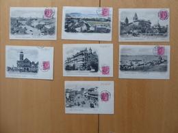 INDE Bombay  7 Bonnes Cartes Postales Anciennes Affranchies 1904 - Inde