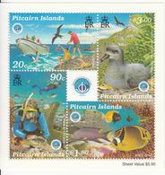 1998 Pitcairn Island International Year Of The Oceans Birds Fish Marine Life   Complete Set Of 1 Souvenir Sheet  MNH - Pitcairn Islands