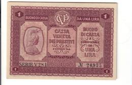 Cassa Veneta Dei Prestiti 1 Lira 02 01 1918 Fds LOTTO 1440 - [ 6] Colonie