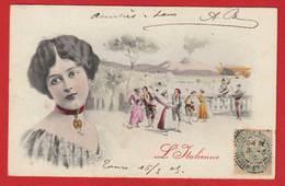 AE675 ARTISTE ITALIE  FEMME LINA CAVALIERI  CARTE ILLUSTREE L'ITALIENNE  EN 1905 PEU COURANTE - Femmes Célèbres