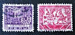 CONQUETE ESPAGNOLE - ART ANCIEN 1932 - OBLITERES - YT 276/77 - Peru