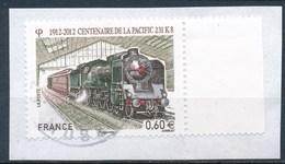 France - Locomotive Pacific 231 K8 - YT 4655 Obl Cachet Rond Sur Fragment - Oblitérés