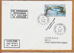 M319 TAAF Les Armements Réunionnais M/S SAINT-JEAN St 05-10-1998 ALFRED-FAURE CROZET - Terres Australes Et Antarctiques Françaises (TAAF)