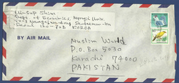 POSTAL USED AIRMAIL COVER TO PAKISTAN - Stamps