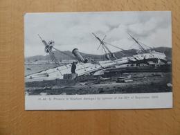 """HONG KONG Typhon Du 18 Septembre 1906  """"H.M.S. Phoenix Damaged"""" - China (Hong Kong)"""