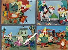 O.R.T.F./ Enfants / Lot De 8 CP / Kiri Le Clown De Jean Image / Yvon N° 21 22 23 25 27 28 29 30 - Enfants