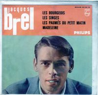 Pochette Sans Disque Sous Plastique-Jacques Brel - Les Bourgeois-Philips 432.766 - 1962 - Accessoires, Pochettes & Cartons