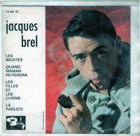Pochette Sans Disque Sous Plastique - Jacques Brel - Les Bigotes - Barclay 70491 - 1962 - Accessoires, Pochettes & Cartons