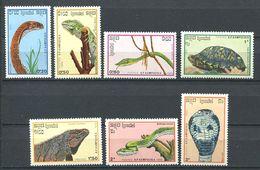 244 KAMPUCHEA 1988 - Yvert 844/50 - Reptille Serpent Tortue - Neuf ** (MNH) Sans Trace De Charniere - Kampuchea