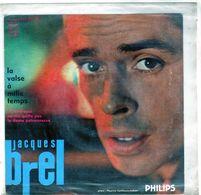 Pochette Sans Disque Sous Plastique - Jacques Brel - La Valse à Mille Temps - Philips 432.371 BE - 1959 - Accessories & Sleeves