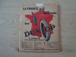 CARTE ROUTIERE DUNLOP JUILLET 1930 LA COTE VENDEENNE - Roadmaps