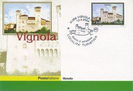 ITALIA - FDC MAXIMUM CARD 2004 - TURISMO - VIGNOLA - ANNULLO SPECIALE - Cartoline Maximum