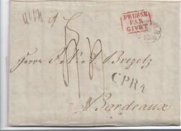 Pre307 / PREUSSEN- Stettin 1837 CPR4 Nach Bordeaux - Duitsland