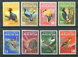 244 MALAISIE 1965 (Malaysia) - Yvert 22/29 - Oiseau Serie Definitive - Neuf ** (MNH) Sans Trace De Charniere - Malaysia (1964-...)
