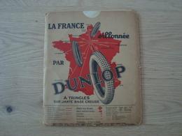 CARTE ROUTIERE DUNLOP FEVRIER 1929 L'ASCASE - Roadmaps