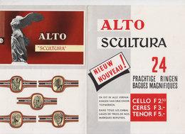 Publicité Cigares Alto Avec Bagues/1 - Bagues De Cigares