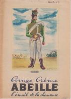 """ANCIEN PROTEGE CAHIER """"HUSSARD"""" / Cirage Crème ABEILLE Série A N°1 / Aisne / 1949 - Book Covers"""