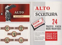Publicité Cigares Alto Avec Bagues/2 - Bagues De Cigares