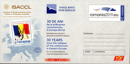 Romania / Postal Stationery / 30 Years Since Collapse Of The Communism In Eastern Europe - History
