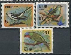 244 NIUE 1971 - Yvert 125/27 - Oiseaux - Neuf ** (MNH) Sans Trace De Charniere - Niue