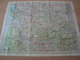 CARTE ROUTIERE N°16 TARIDE BORDEAUX ANGOUMOIS - Roadmaps