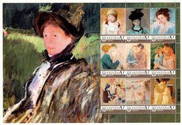 Ukraine 2019, Painting, Impressionists, M. Cassatt, Sheetlet Of 9v - Ukraine