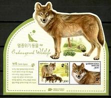 Korea South 2015 Corea / Fauna Mammals Wolf MNH Mamíferos Lobo Säugetiere / Cu12407  2 - Sin Clasificación