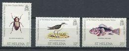 244 SAINTE HELENE 1975 - Yvert 276/78 - Oiseau Insecte Poisson - Neuf ** (MNH) Sans Trace De Charniere - Saint Helena Island