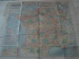 CARTE ROUTIERE TARIDE LA FRANCE ET LES COLONIES FRANCAISES ZONE D'OCCUPATION - Roadmaps