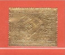 Timbre OR Gold Stamp DAHOMEY BENIN Espace Apollo Yvert PA 106 ** - Benin - Dahomey (1960-...)