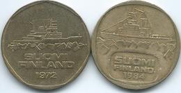 Finland - 5 Markka - 1972 (KM53) & 1984 (KM57) - Finland