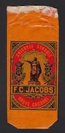 GENT * GAND * ZAKJE * F. C. JACOBS * CHICOREE SEMOULE * STAAL * ECHANTILLON * 11 X 4.50 CM - Publicités