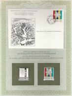 ASSOCIATION INTER DES RECEVEURS DE LA POSTE ENVELOPPE FDC SARAJEVO JEUX OLYMPIQUES + TIMBRE ARGENT+TIMBRE NEUF**- 1983 - Liechtenstein