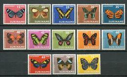 244 SURINAM 1972 - Yvert A 40/52  - Papillon - Neuf ** (MNH) Sans Trace De Charniere - Surinam