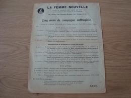 DOCUMENT DU CENTRE DE PROPAGANDE POUR L'EGALITE DES DROITS LA FEMME NOUVELLE 1935 - Historische Documenten