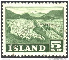 496 Iceland Sheep Cutting Hay Moutons Foins (ISL-50) - Agriculture