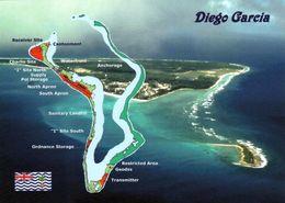 1 Map Of Diego Garcia * Atoll Im Chagos-Archipel - Landkarte - Indischer Ozean * B.I.O.T. * - Maps