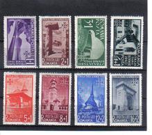 POL1078 RUMÄNIEN 1940 MICHL 631/38 (*) FALZ SIEHE ABBILDUNG - 1918-1948 Ferdinand, Carol II. & Mihai I.