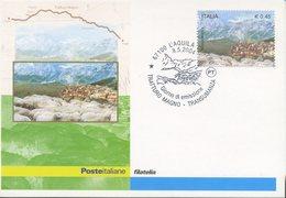 ITALIA - FDC MAXIMUM CARD 2004 - TRANSUMANZA- TRATTURO MAGNO - ANNULLO SPECIALE L'AQUILA - Maximumkarten (MC)