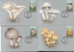 Kirgistan Kyrgyzstan MNH** 2019  Poisonous Mushrooms Of Kyrgyzstan  Mi 121-124 Max M - Pilze